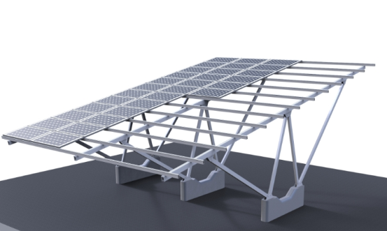 Cantilever type solar carport mounting